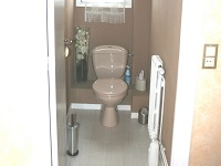 Wall-mounted toilets and sink combination, WiCi Boxi - Ms R (France - 63) - 1 of 2 (before)