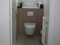 Wall-mounted toilets and sink combination, WiCi Boxi - Ms R (France - 63) - 2 of 2 (after)