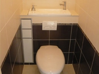 Wall mounted WC with integrated hand wash basin WiCi Boxi - Mr C (France - 37) - 2 of 2 (after)