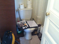 Wall-mounted toilets and wash basin combination WiCi Boxi - Mr D - 1 of 2 (before)