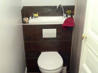 Wall-mounted toilets and wash basin combination WiCi Boxi - Mr D - 2 of 2 (after)