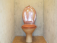 Wall-mounted toilets and basin combination WiCi Boxi - Mr L (France - 02) - 1 of 2 (before)