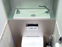 Light grey WiCi Boxi hand wash basin - by Bains d'Alexandre - 3 of 3 (after)