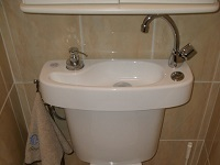 WiCi Concept hand wash basin kit fitting on already installed toilets - Ms G (France - 83)