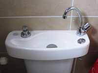 WiCi Concept sink adaptable on existing toilets - Mr B (France -72)
