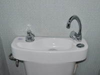 WiCi Concept water saving toilets with adaptable hand wash basin - Mr D (France - 85) - 2 of 2