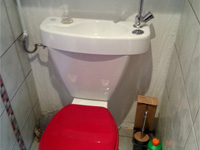 WiCi Concept space-saving toilets with adaptable hand wash basin - Mr R (France - 67)