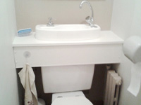 Cabinet mounting of a WiCi Concept wash basin kit - Mr L (France - 49)