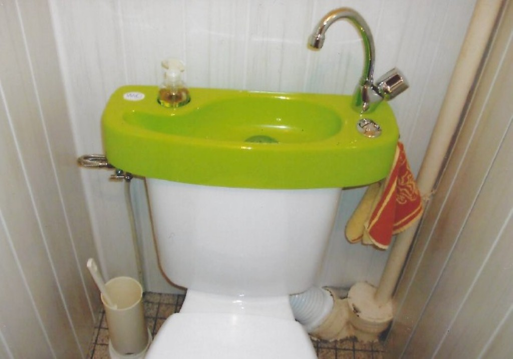 WiCi Concept wash basin kit with green varnish finish - Mr G (France - 25)