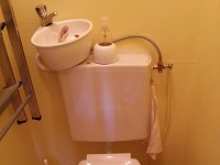 Toilet and small WiCi Mini wash basin combo - Ms R (France- 90)