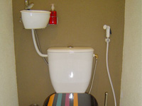 Small hand wash basin kit fitting on already installed toilets, WiCi Mini with toilet shower hose - Mr S (France - 25) - 1 of 2