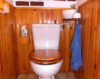 Small WiCi Mini hand wash basin fitting on already installed toilets, with wood ornament - Mr C (France - 84) - 1 of 2
