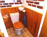 Small WiCi Mini hand wash basin fitting on already installed toilets, with wood ornament - Mr C (France - 84) - 2 of 2