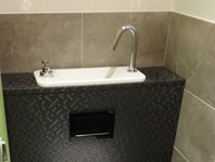 Wall-hung toilets and compact sink combo WiCi Next - M. J by Techno Rénov Atlantic (France - 33) - 2 of 2