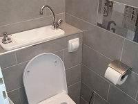 Water-saving wall-hung toilets and compact sink combo WiCi Next - Mr W (France - 57) - 1 of 2