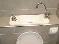 Water-saving wall-hung toilets and compact sink combo WiCi Next - Mr W (France - 57) - 2 of 2