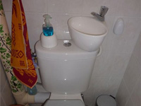 Small toilet and hand wash basin combination WiCi Mini - Mr B (France - 88) - 1 of 2