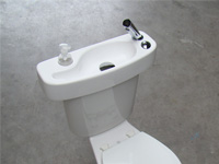 WiCi Concept, Toilet and basin combination - concrete background - 1 of 4