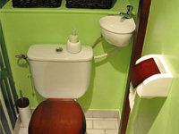 Wall-standing WiCi Mini, toilet and small sink combination - Mr and Ms C (France - 69) - 2 of 3