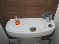WiCi Concept wash basin kit fitting on already installed toilets - Mr and Ms D (France - 69)