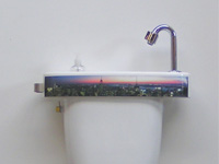 WiCi Concept basin, New York panorama sticker, ACJF exhibition (France - 25), 1 of 2
