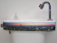 WiCi Concept basin, New York panorama sticker, ACJF exhibition (France - 25), 2 of 2