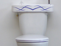 WiCi Concept adaptable hand wash basin, tribal sticker, ACJF exhibition (France - 25), 1 of 2