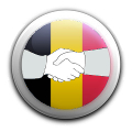 Hands with belgian flag