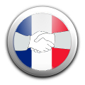 Hands with french flag
