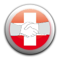 Hands with swiss flag