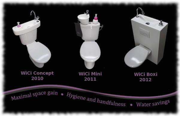 The WiCi Concept hand wash basin product range